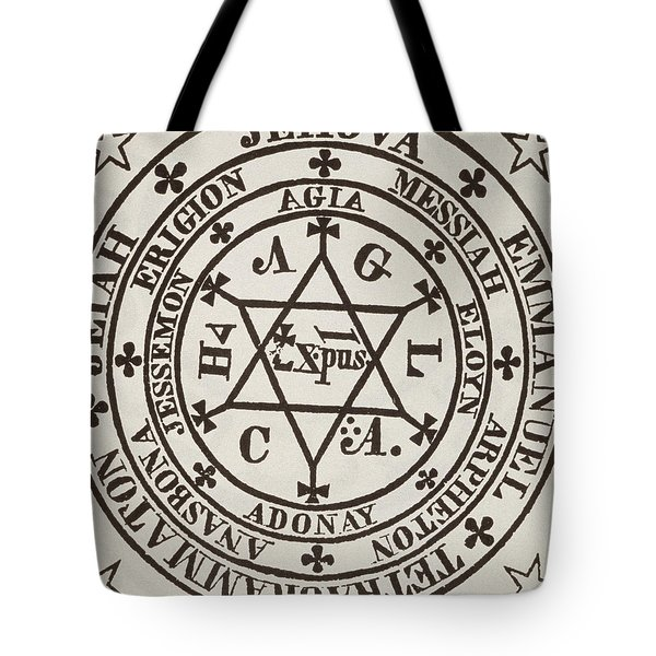 The Great Magic Circle Of Agrippa For The Evocation Of Demons Tote Bag