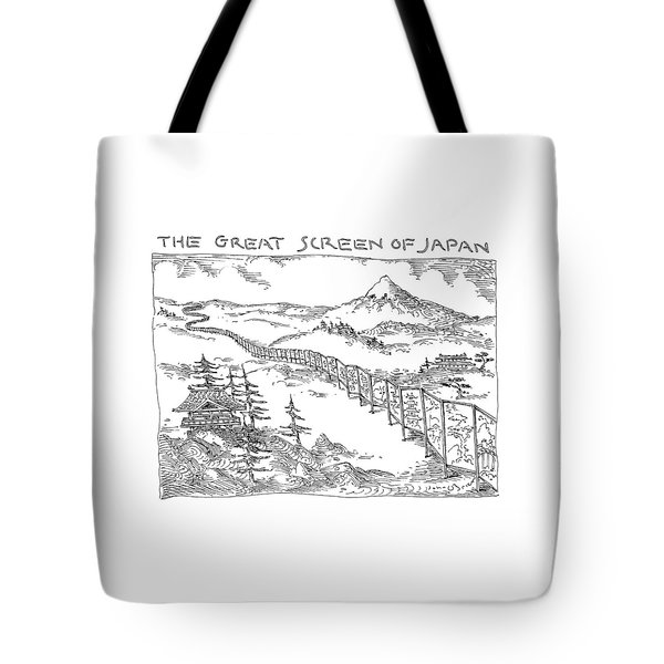 The Great Screen Of Japan Tote Bag