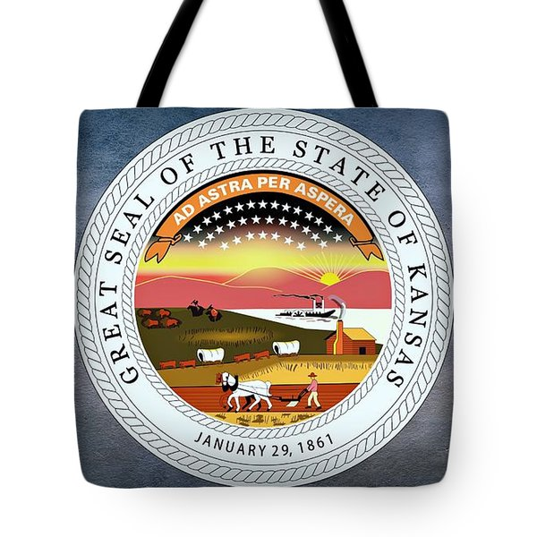 The Great Seal Of The State Of Kansas  Tote Bag by Movie Poster Prints
