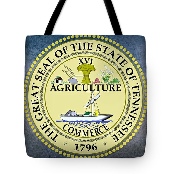 The Great Seal Of The State Of Tennessee Tote Bag by Movie Poster Prints