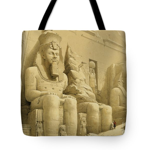 The Great Temple Of Abu Simbel Tote Bag by David Roberts