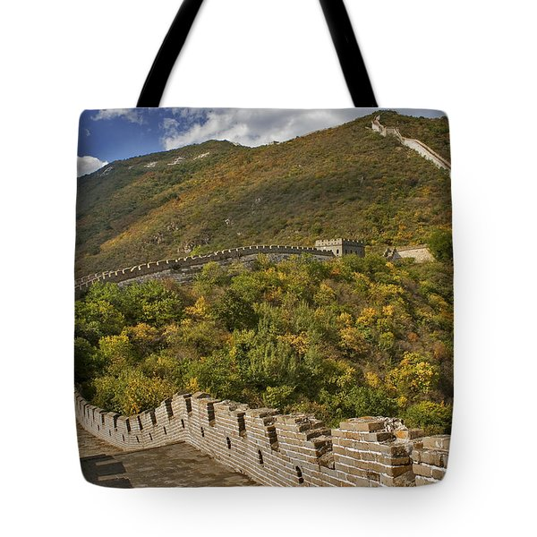 The Great Wall Of China At Mutianyu 2 Tote Bag