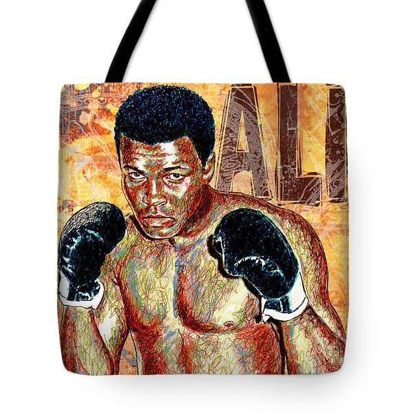 The Greatest Of All Time Tote Bag by Maria Arango