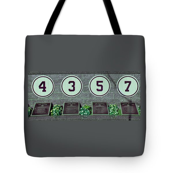 The Greatest Yankees Tote Bag by Allen Beatty