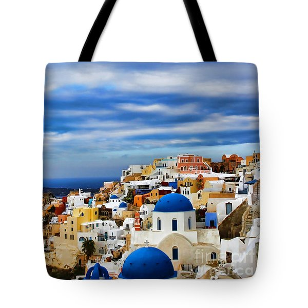 The Greek Isles-oia Tote Bag