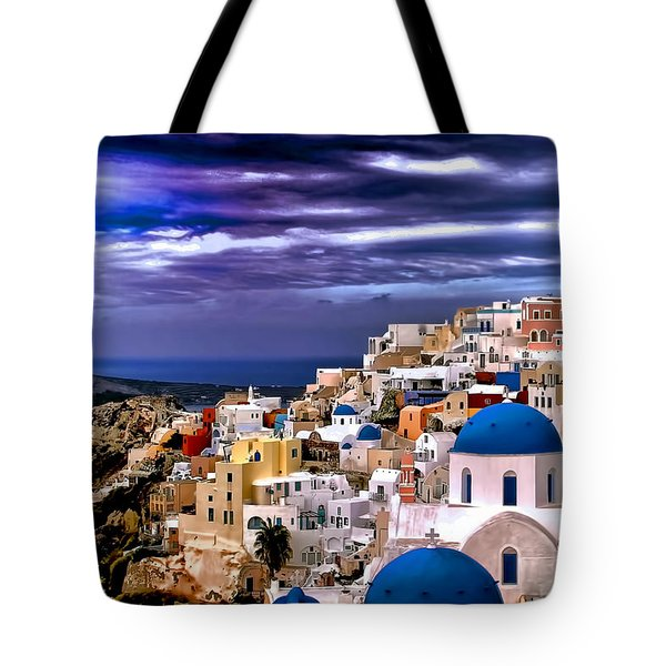 The Greek Isles Santorini Tote Bag