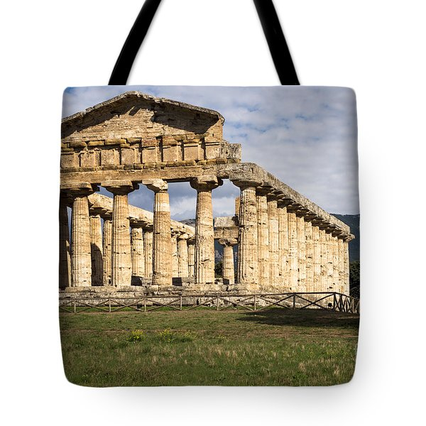 The Greek Temple Of Athena Tote Bag