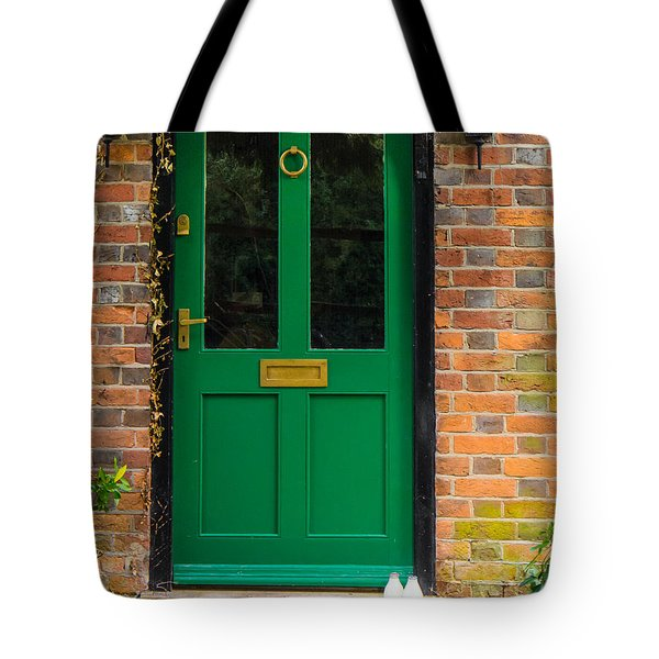The Green Door Tote Bag by Mark Llewellyn