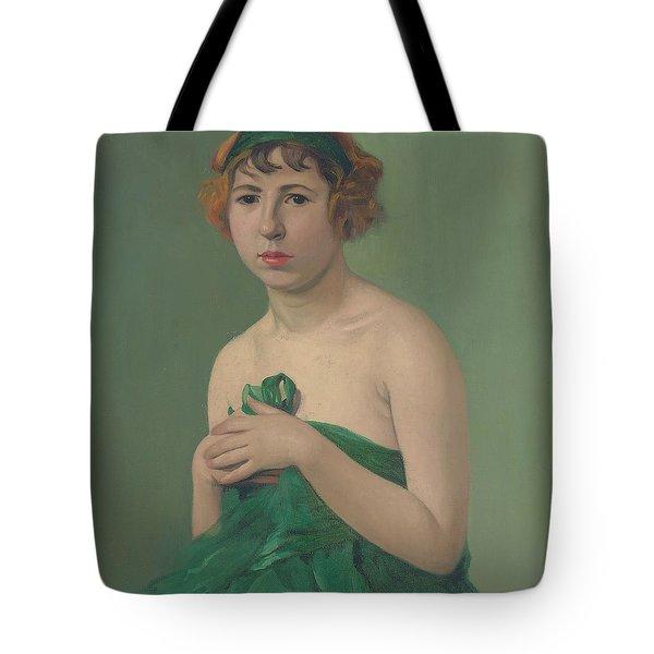 The Green Ribbon Tote Bag