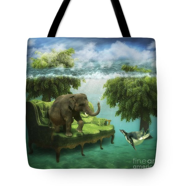 The Green Room Tote Bag by Martine Roch
