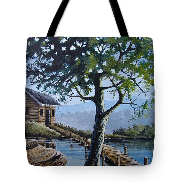 The Green Tree Tote Bag