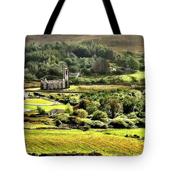 Tote Bag featuring the photograph The Green Valley Of Poisoned Glen by Charlie and Norma Brock