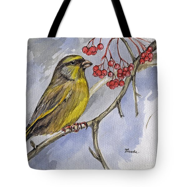 The Greenfinch Tote Bag by Angel  Tarantella