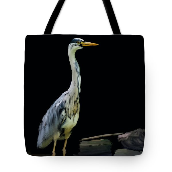 The Grey Heron Tote Bag by Brian Roscorla