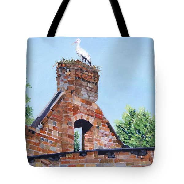The Guard At Ruins  Tote Bag