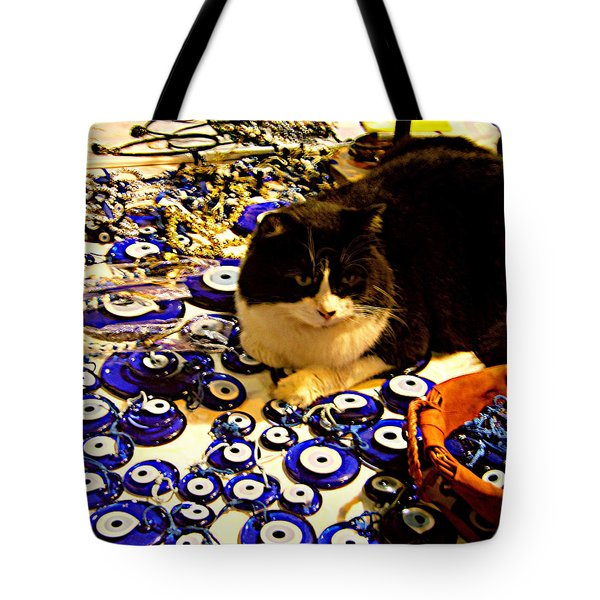 The Guard Of Evil Eye Beads Tote Bag