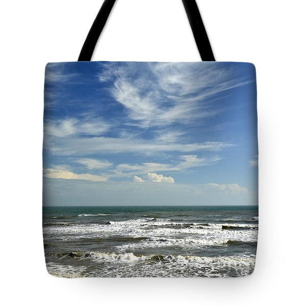 The Gulf Of Mexico From Galveston Tote Bag