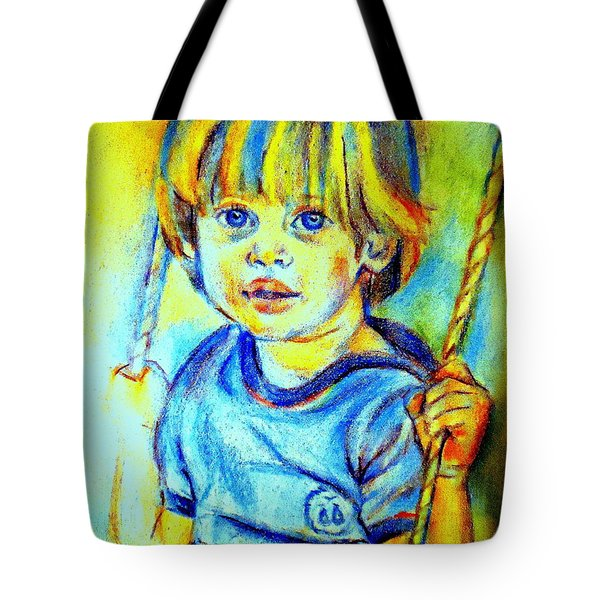 Tote Bag featuring the drawing The Hammock by Helena Wierzbicki