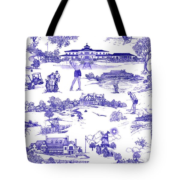 The Hamptons Historical Golf Courses Tote Bag by Kimberly McSparran