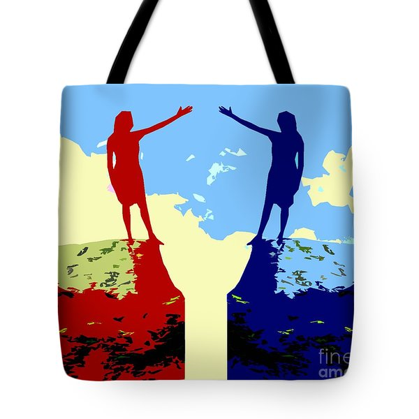 The Hand Of Friendship Tote Bag by Patrick J Murphy
