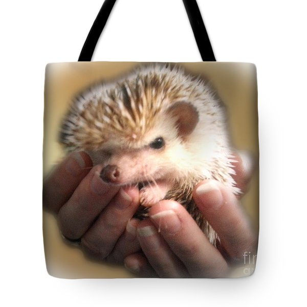 The Hands Who Cares For The Animals  Tote Bag by Donna Brown