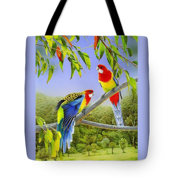 The Happy Couple - Eastern Rosellas  Tote Bag