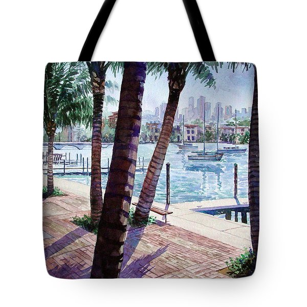The Harbor Palms Tote Bag