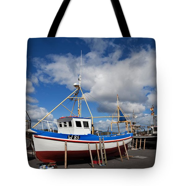 The Harbour And Fishing Boats, Passage Tote Bag