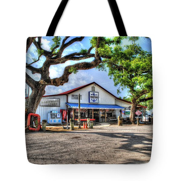 Tote Bag featuring the digital art The Hardware Store by Michael Thomas