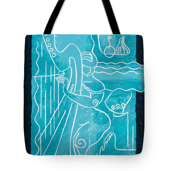 The Harp Player Tote Bag by Elisabeta Hermann