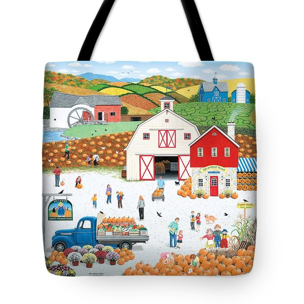 The Harvest Moon Tote Bag by Wilfrido Limvalencia