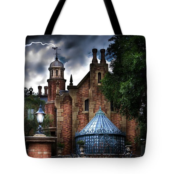 The Haunted Mansion Tote Bag by Mark Andrew Thomas