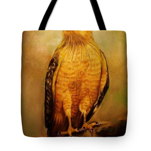 The Hawk Tote Bag by Jean Cormier