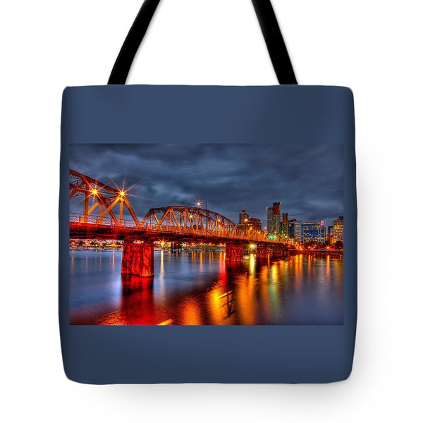 Tote Bag featuring the photograph The Hawthorne Bridge - Pdx by Thom Zehrfeld