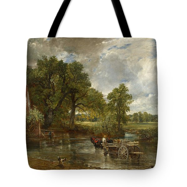 Tote Bag featuring the painting The Hay Wain by John Constable