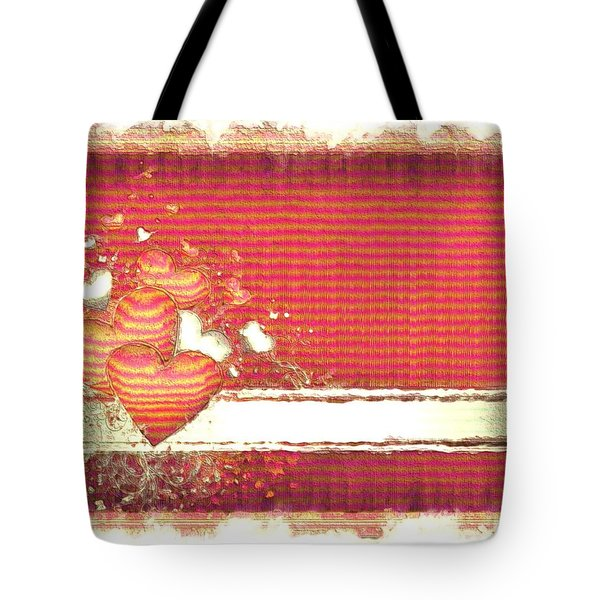 Tote Bag featuring the digital art The Heart Knows by Liane Wright