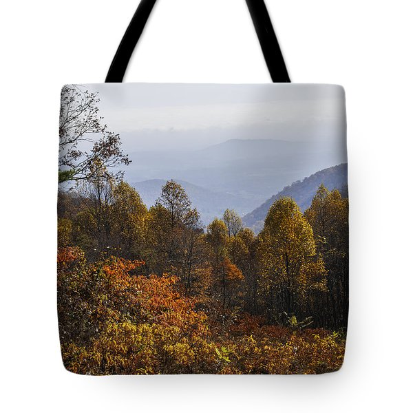 The Heart Of Autumn Tote Bag by Lynn Bauer