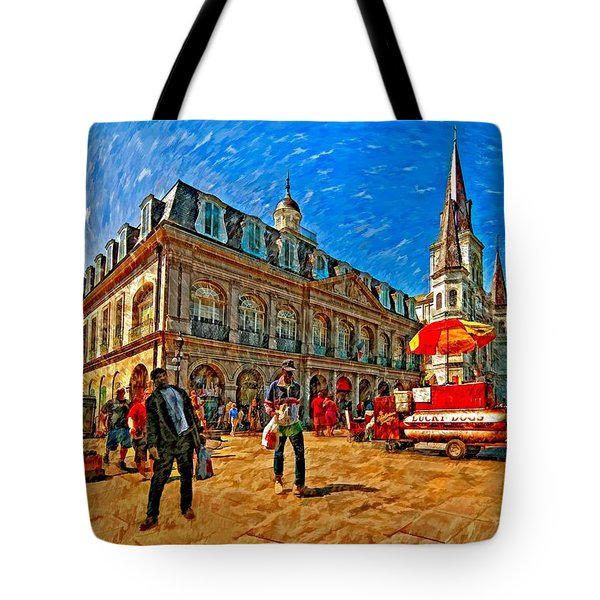 The Heart Of New Orleans Tote Bag by Steve Harrington