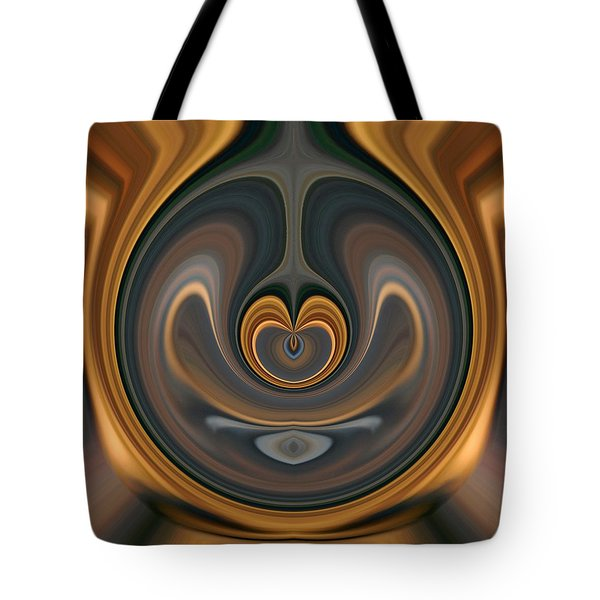Tote Bag featuring the digital art the Heart of Time by rd Erickson