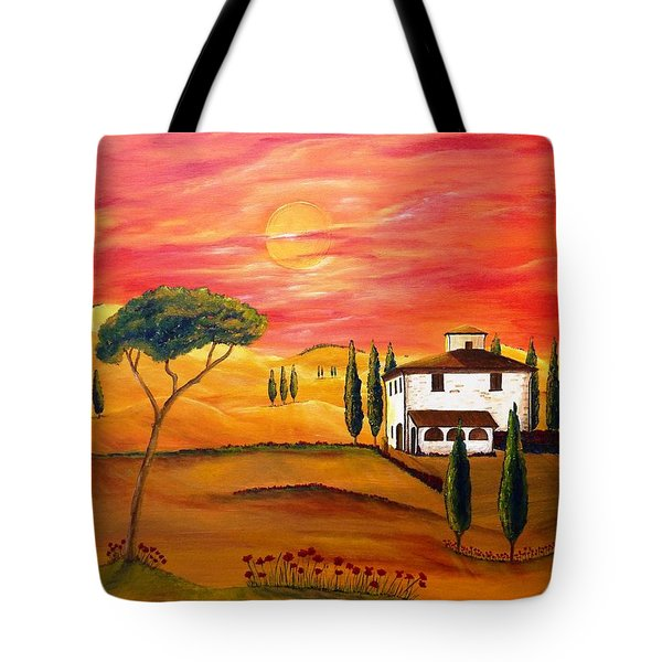 The Heat Of Tuscany Tote Bag by Christine Huwer