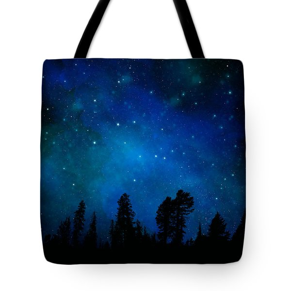 The Heavens Are Declaring Gods Glory Mural Tote Bag by Frank Wilson