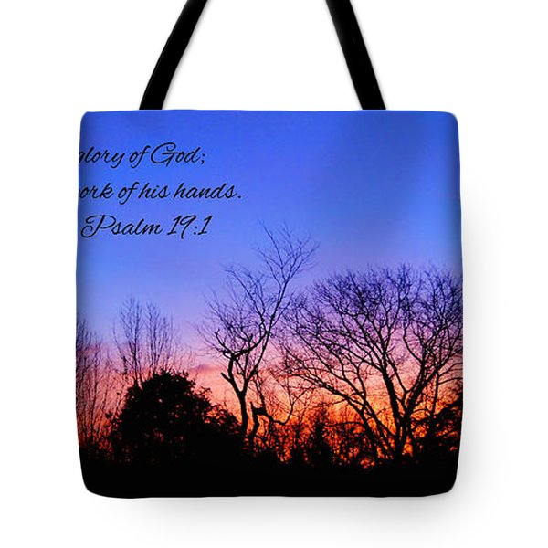 The Heavens Declare Tote Bag