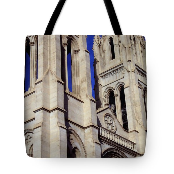 The Heights Of The Cathedral Basilica Of The Immaculate Conception Tote Bag by Angelina Vick