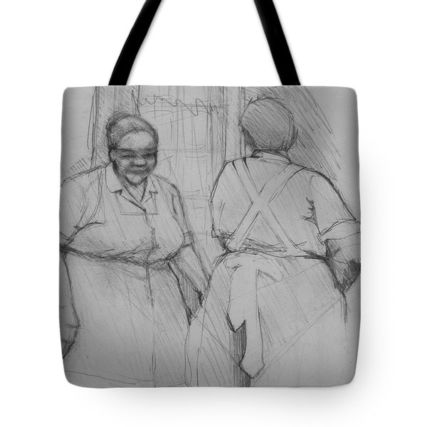 The Help - Housekeepers Of Soniat House Sketch Tote Bag by Jani Freimann