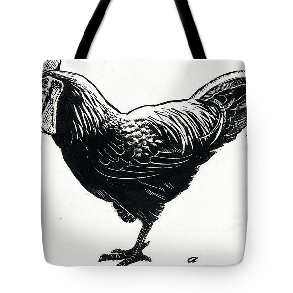The Hen Tote Bag by George Adamson