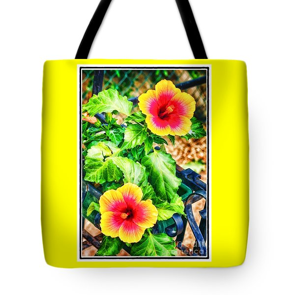 Tote Bag featuring the photograph The Hibiscus Of Torcello by Jack Torcello