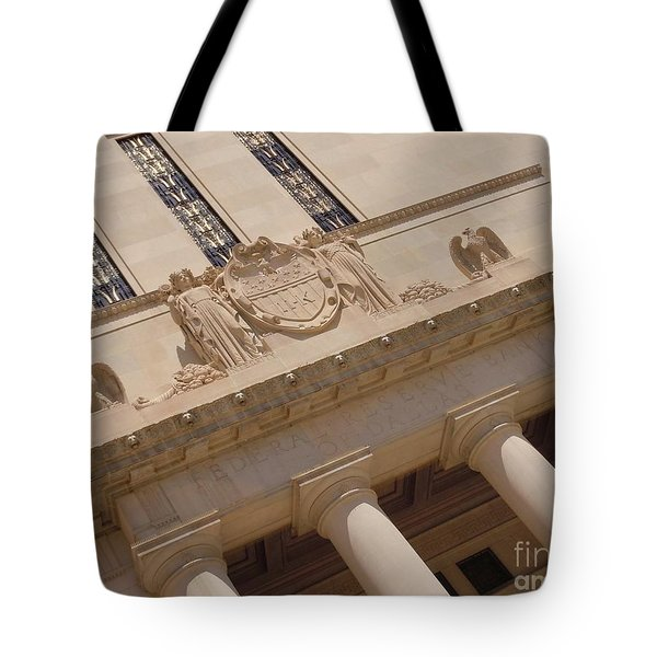 Tote Bag featuring the photograph The Historical Federal Reserve Bank Of Dallas by Robert ONeil