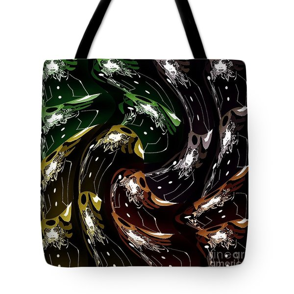 Tote Bag featuring the digital art The History Of Fashion by Ann Calvo
