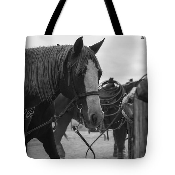 Tote Bag featuring the photograph The Hitching Post by Amber Kresge