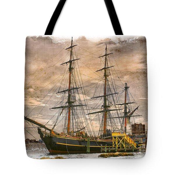 The Hms Bounty Tote Bag by Debra and Dave Vanderlaan